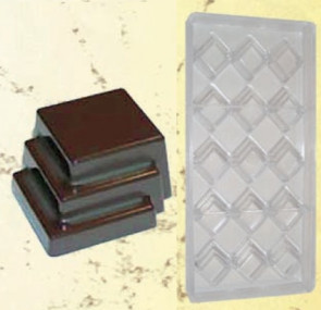 Stampo in policarbonato cioccolatini Tris