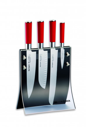 Set 4knives Red Spirit: Ceppo completo di 4 coltelli Serie Red Spirit di Dick