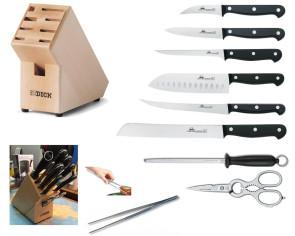 Ceppo IN: Ceppo completo di coltelli Due Cigni