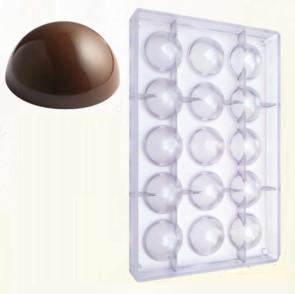 Stampo in policarbonato per cioccolato Semisfera