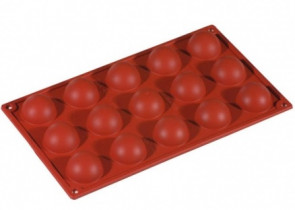 Stampi in silicone multiporzione 15 semisfere