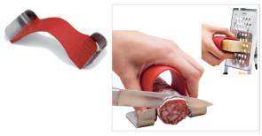 Salva dita - Proteggi dita in silicone e acciaio per grattugie e coltelli