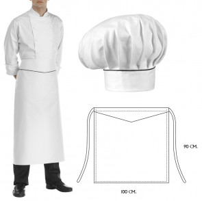Set Cappello e grembiule cuoco Elegance
