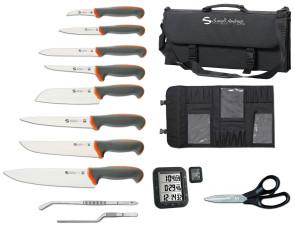 Valigetta completa di 8 coltelli Serie Tecna di Sanelli Ambrogio e Accessori
