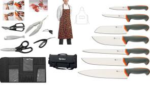 Valigetta Lobster: Valigetta completa di 7 Coltelli Tecna + 6 accessori Crostacei e Pesce + 1 Grembiule