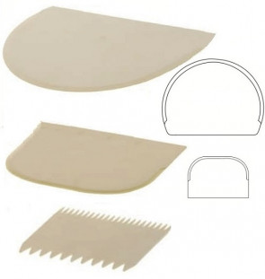 Set 3 raschietti - spatole da pasticceria di Schneider