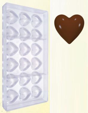 Stampo in policarbonato per cioccolato Cuoricini