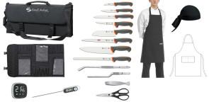 Leaving: Valigetta Tecna Completa di coltelli, accessori, grembiule e bandana