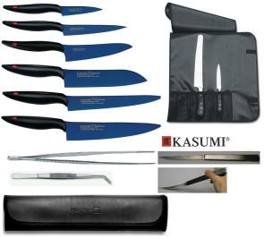 Excellet Kasumi: Set completo di 6 coltelli in Titanio di Kasumi e accessori
