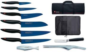 Valigetta completa di coltelli Kasumi in Titanio