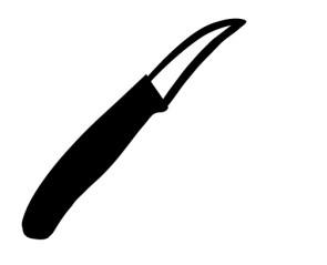 Affilatura coltello spelucchino curvo o retto