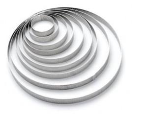 Anello cerchio Altezza cm. 2 Microforato in acciaio inox 18/10