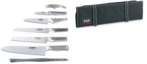 Avvolgibile completo di coltelli Global e pinza
