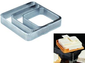 Fascia microforata in acciaio inox Quadrato con angoli tondi di Pavoni