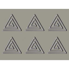 Spirale triangolo: stampo in silicone Linea Gourmand di Pavoni Professional