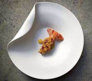 Piatto Gourmet Bowl con piega Sumisura Linea Diva di Royale