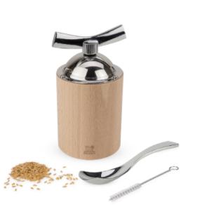 Macina semi di lino e sesamo in legno con accessori di Peugeot