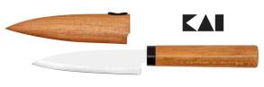 Coltello da cucina e frutta con fodero in legno di Kai