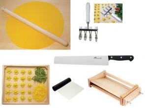 Kit Pasta Fresca: Coltellina, mattarello, raschia, tagliapasta