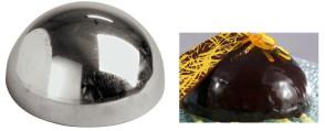 Mezza sfera per pasticceria e gelateria in inox