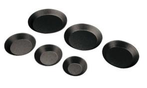 Tartellette tonde antiaderenti (confezione da 6 pezzi)