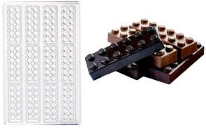 Mattoncino alto: stampo in policarbonato per cioccolato Snack di Martellato