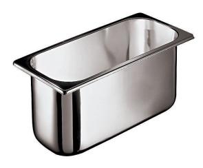Bacinella per gelato in acciaio inox - Dim. cm. 26x16