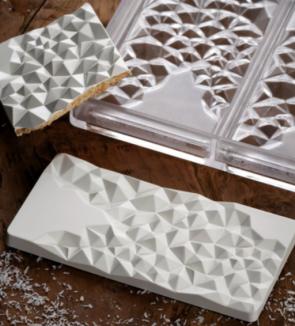 Fragment: stampo in policarbonato per tavoletta di cioccolato di Pavoni Professional