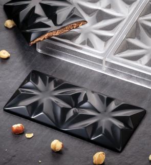 Edelweiss: stampo in policarbonato per tavoletta di cioccolato di Pavoni Professional