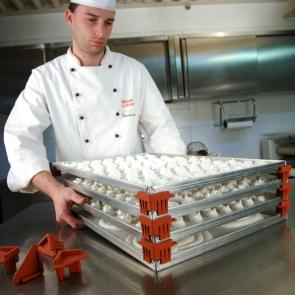 Pilly4: Set di 4 angolari in silicone per teglie di Pavoni Professional