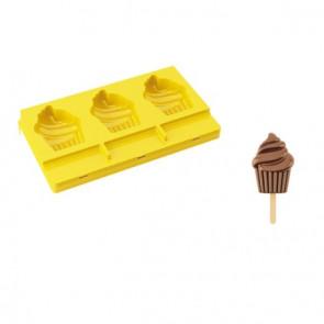 Stampo gelato a stecco Cupcake Pocket Pavogel con 50 stecchi di Pavoni Professional