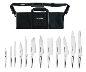 Splendida valigetta completa di  12 coltelli Turbo di Chroma