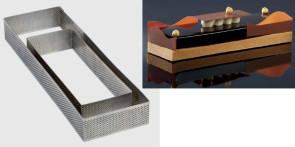 Fascia microforata in acciaio inox Rettangolo di Pavoni