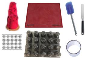 Set pasticceria Rose: monoporzione perfetta