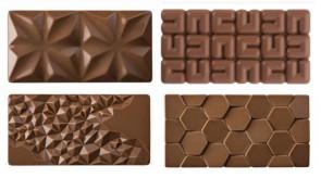 Set Tavolette: 4 stampi per realizzate Tavolette 100 grammi di Pavoni Professional
