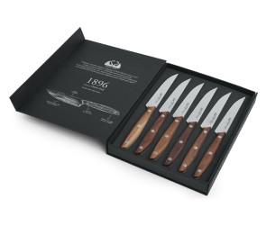 Set 6 coltelli bistecca dentati Linea 1896 di Due Cigni Coltellerie