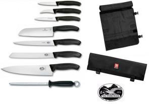 Valigetta completa di 7 coltelli e 1 acciaino di Victorinox SwissClassic