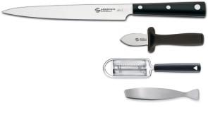Set Preparazione Pesce Ambrogio Sanelli: Coltello Yanagiba Serie Hasaki + accessori