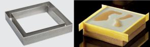 Fascia microforata in acciaio inox Quadrato di Pavoni