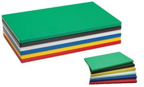 Set di 6 taglieri in polietilene colorati cm. 50 x 30
