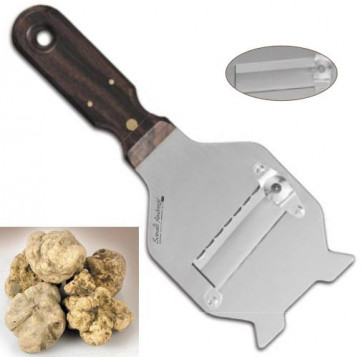 Stainless steel truffle slicer, rosewood handle plain blade