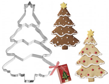 Mould Paste-cutter Christmas Tree XXL in stainless steel
