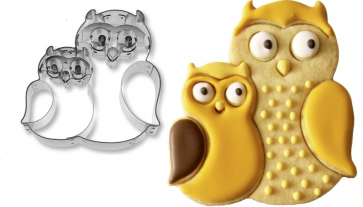 Couple of owls : stainless steel paste-cutter