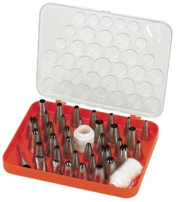 Set 38 bocchette decoro in acciaio