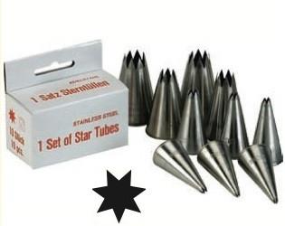 Set di 10 bocchette foro stella