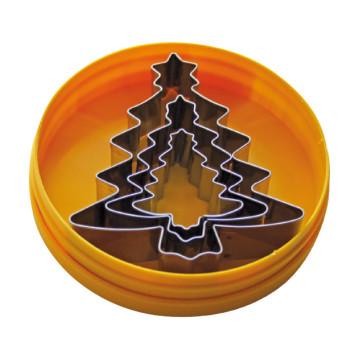 Schneider stainless steel set of paste- cutters  fir-tree shaped
