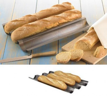Nonstick baking-pan for baguette French bread
