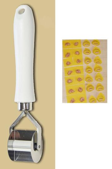 taglia tortellini liscio per realizzare quadri di pasta di 28 mm