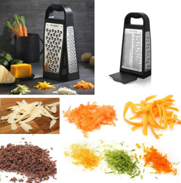Elite Box Grater : Microplane 5 graters in 1