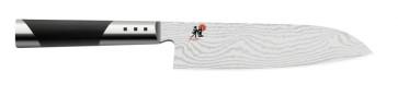 Damascus 65 layer knife Santoku cm. 18 Series Miyabi 7000D